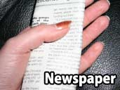Newspaper - a suitable substrate for Hognose Snakes